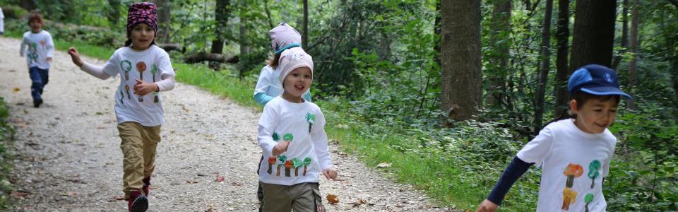 Oberlin Naturkindergarten startet beim Teva-Mini-Kids-Run
